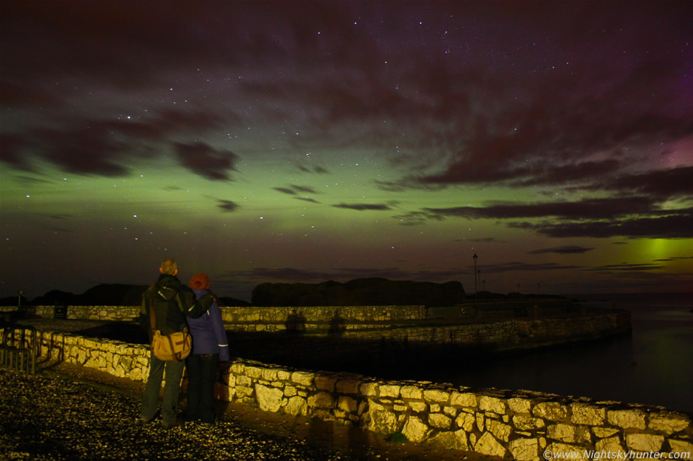 Giants >> Aurora Borealis - Giant's Causeway & Ballintoy Harbour - April 23rd 2012