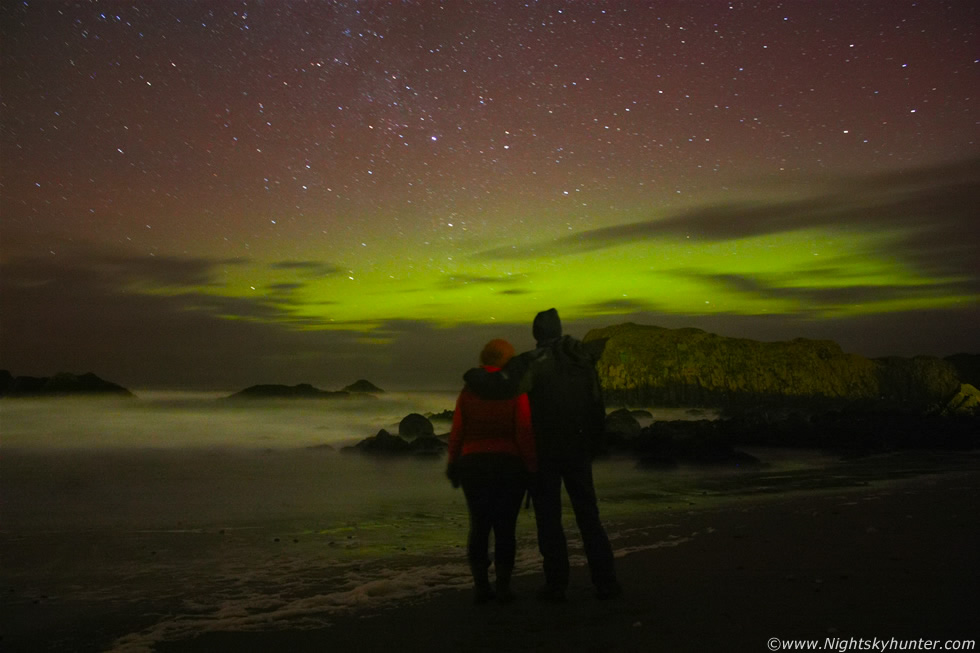 Ballintoy Harbour Aurora Jan 22nd 2012