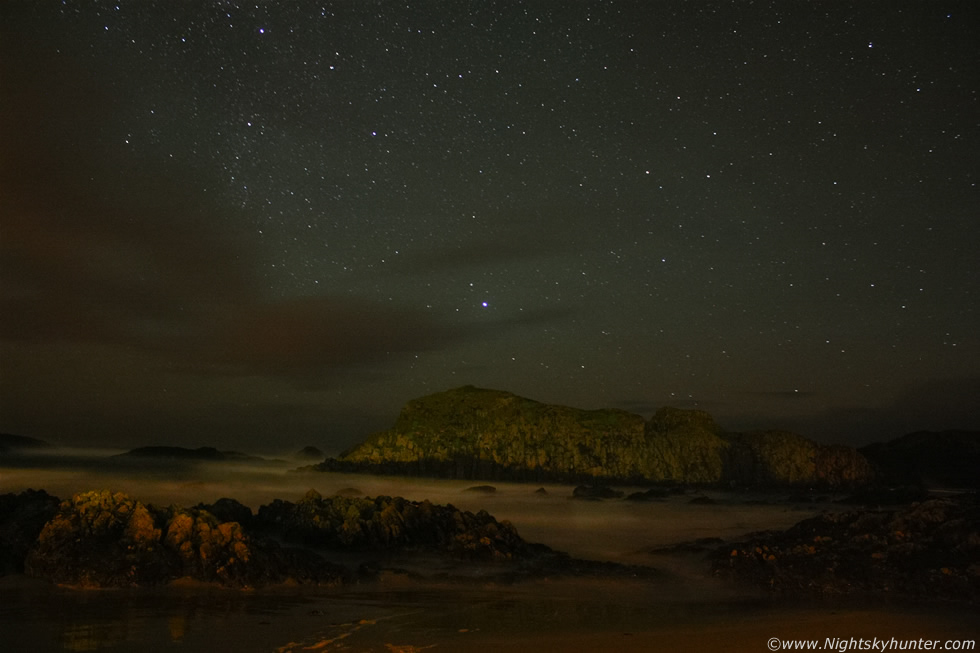 Ballintoy Harbour Night Storms Nov 29th 2011