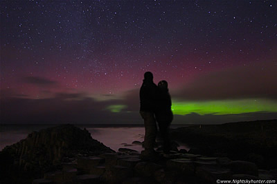 Christmas Eve Aurora Engagement At Giant's Causeway - Dec 24th 2014