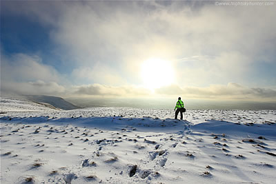 Epic Winter View From Benbradagh Summit - February 2nd 2015
