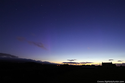 Extremely Rare Summer Twilight Aurora From Maghera - June 23rd 2015