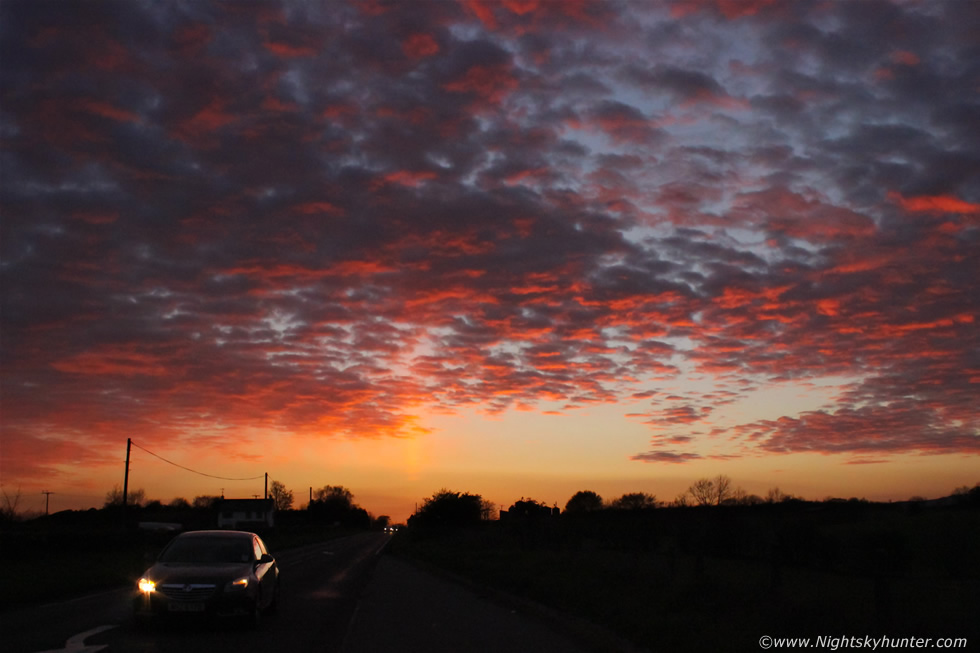 Omagh Road Sun Pillar & Sunset