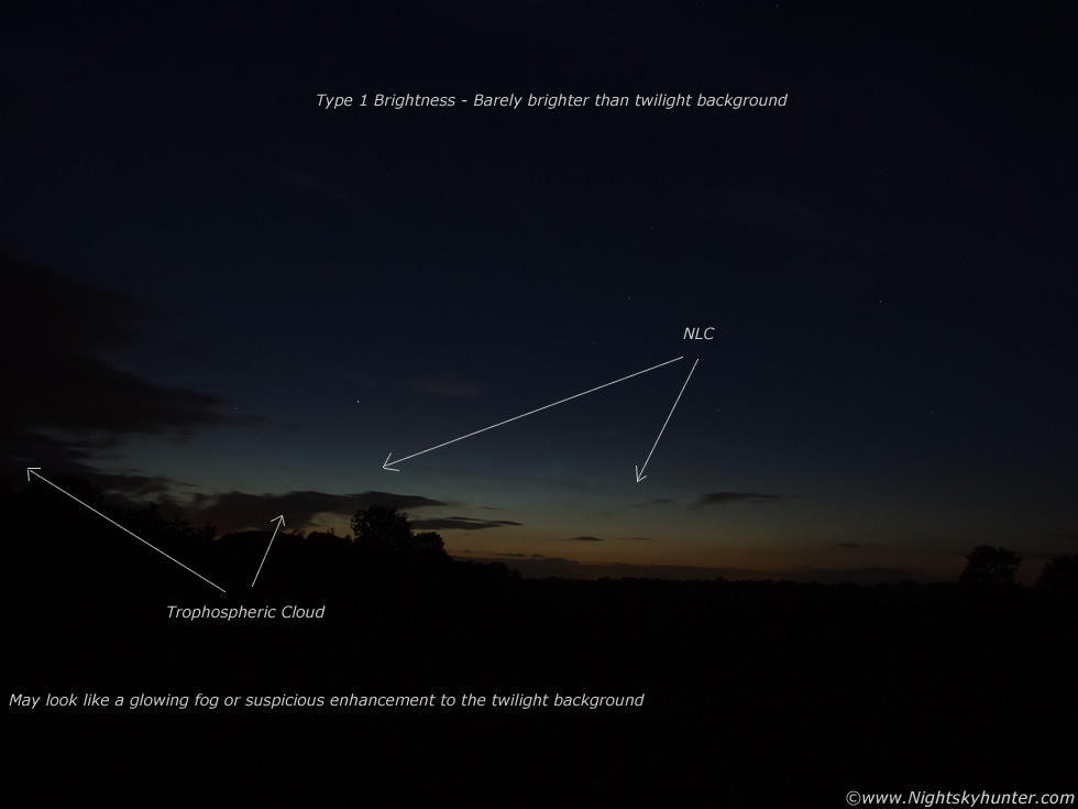 Type 1 Brightness - Barely visible against twilight background