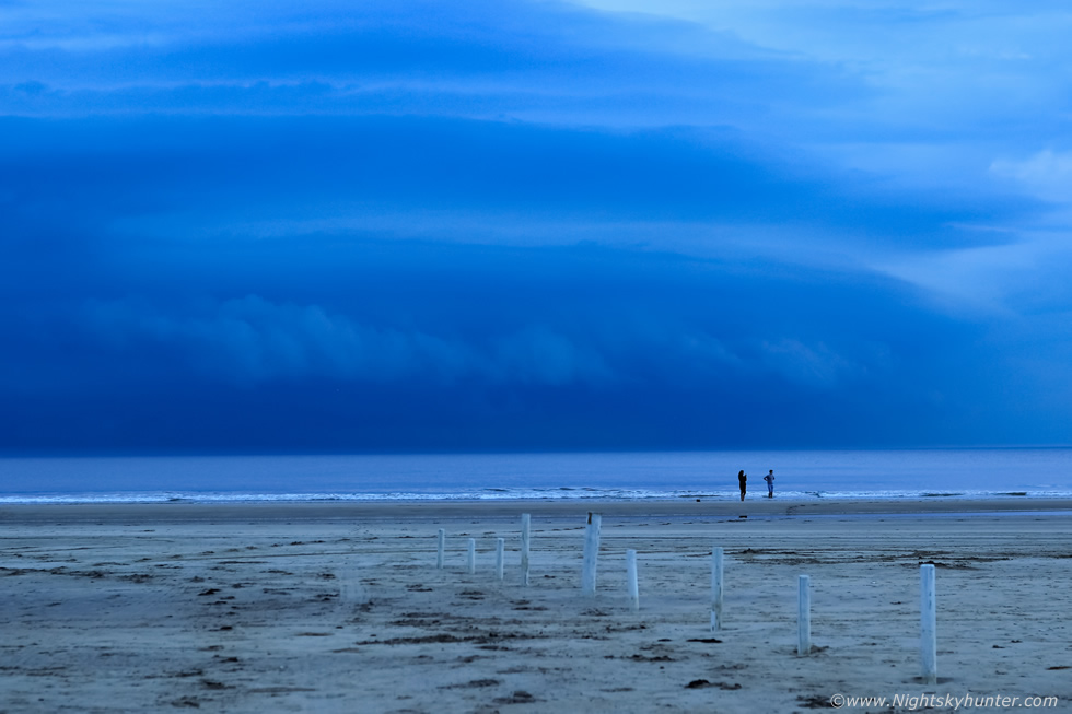 Awesom Storm Front That Darkened >> Downhill Beach Thunderstorm Aug 25th 2016