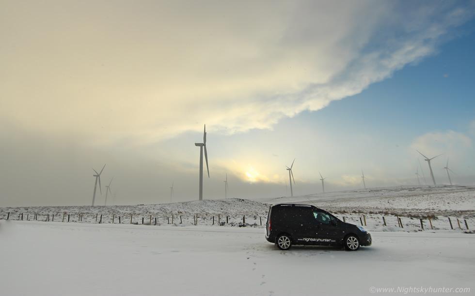 Real Snow Began After Dark >> Wind Turbine Snow Storm Feb 11th 2018